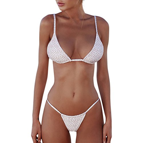 Beonzale Summer Damen Bikini-Set One Piece High Cut Gepolstert Frauen Bandeau Bandage Bikini Set Push-Up Badebekleidung Beachwear Badeanzug