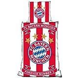 FC Bayern München Fanartikel Bettwäsche Linon Wappen Banderole -
