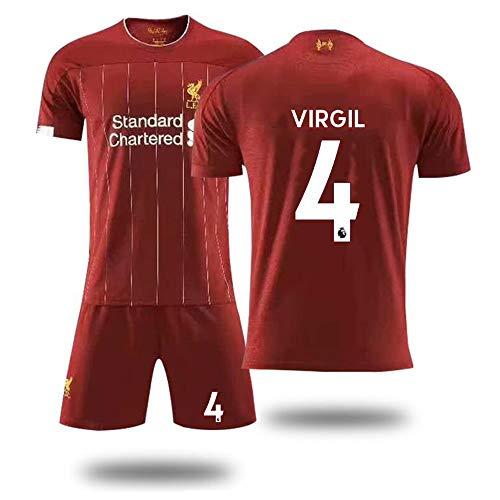 YSYSW Liverpool F.C.-Virgil Van Dijk 4 Short-Sleeved T-Shirt Shorts Jersey Home Football Training Suit Sportswear Suit Football t-Shirt, Football Summer Uniforme