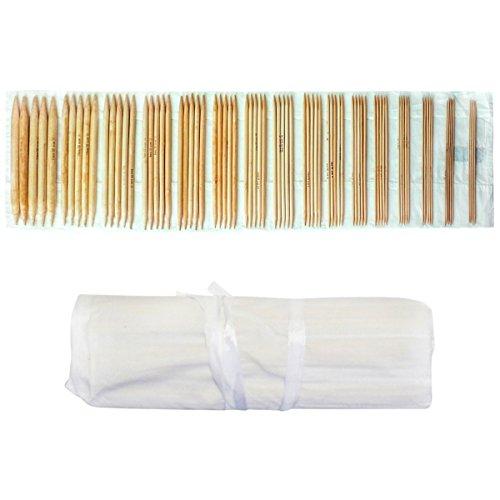 Bamboo Leggins (Doppelendiges Stricknadel Set von Curtzy - 80-tlg. Mega Holznadeln Set - Größen: 2mm bis 12mm - Ungefähr 25cm in der Länge - Nadel mit Spitze sowohl für Anfänger als auch Professionelle)