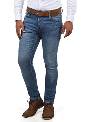 JACK & JONES Ubbo Herren Jeans Hose Denim Stretch Slim Fit, Größe:W33/32, Farbe:Blue Denim (NZ024)