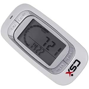 CSX Walking 3D Pedometer Fitness Calorie Monitor, White