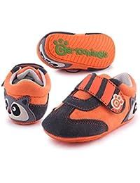 Cartoonimals Zapatos para bebé niños niñas Infantil primeros pasos piel suave Cuero Zapatillas Racoon