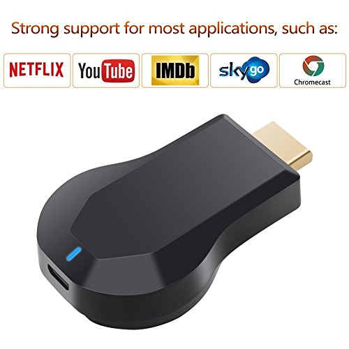 [Verbesserte Version, verbesserte Version] Wireless HDMI Bildschirm Spiegel Dongle, ATETION® WiFi Display TV Dongle Empfänger 1080P Easy Sharing Wireless Streaming TV Stick Für iOS / Android / Mac Geräte zu HDTV- Über Airplay Miracast DLNA Airmirror Agreement