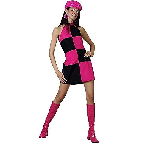 Austin Powers Costumes Pour Les Femmes - Mini jupe pour femme rose et noir