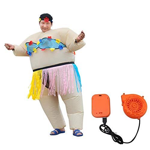 Inflatable Costumes Danza Hula Disfraz de Cosplay de Fiesta para Mujeres, Hombres, Accesorios Divertidos Inflables