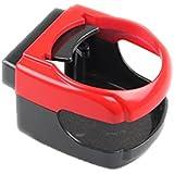 Boladge vehículo accesorio bebidas botella latas bebida taza sostenedor soporte clip para coches / camiones (rojo)