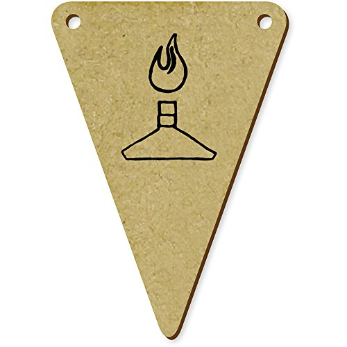 5 x 70mm 'Bec Bunsen' fanions triangles en bois (BN00008961)