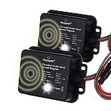 Focuspet 2er Pack Marderschreck Auto, Marderschutz für Auto 12 kHz Frequenz Marderabwehr Marderfrei mit Blitzlicht und Ultraschall Anschluss an 12V Autobatterie