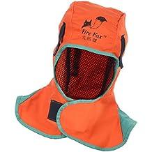 Sharplace Capucha de Soldadura Ropa de Protección Fuego Herramienta de Soldador Jardinería de Nylon - Naranja