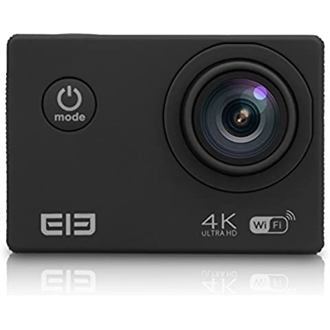 Elephone - ELE Explorer Camara Deportiva de Acción 4K(3840x2160)15fps, Full HD 16MP, 170 °Lente gran, 30M Impermeable, Anti-vibración, 2.0 Pulgadas, WIFI,