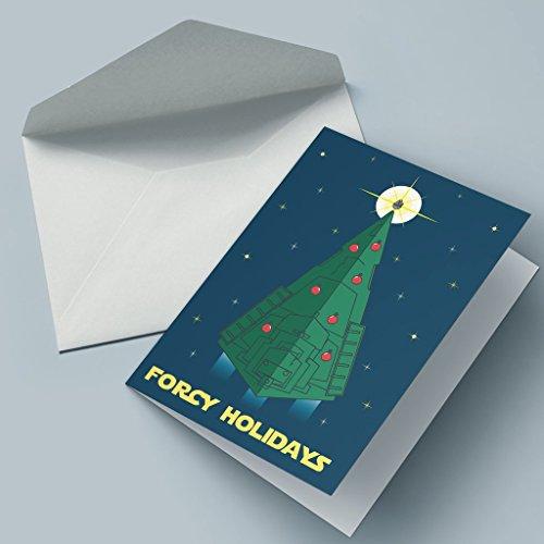 Nerd Cards - Forcy Holidays - Die Weihnachtskarte für Nerds, Geeks & Filmfans