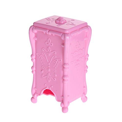 affeco Make-up Baumwolle Pad Kosmetik Organizer Fall Aufbewahrungsbox Acryl (Pink)