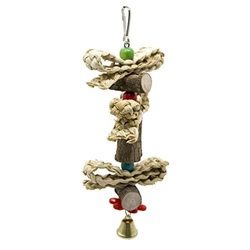 HOUYAZHAN Papagei liefert Vogel Spielzeug Belted Log Mais Husk Twist Biss String Biss Spielzeug. (Farbe : Braun) -