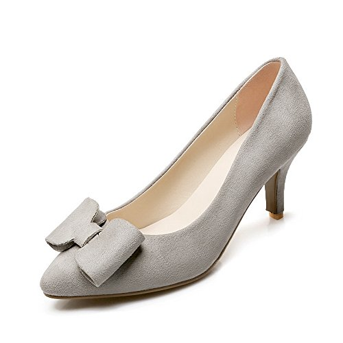 balamasa Mesdames massif kitten-heels Pig Peau à enfiler pumps-shoes Gris