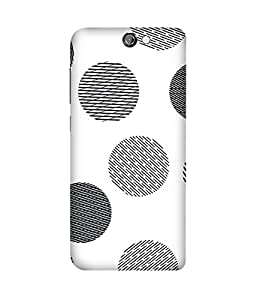 Black Dashed Dots HTC One A9 Printed Back Cover