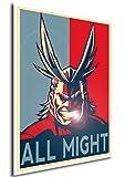 """Poster My Hero Academia """"Propaganda"""" All Might - Formato A3 (42x30 cm)"""