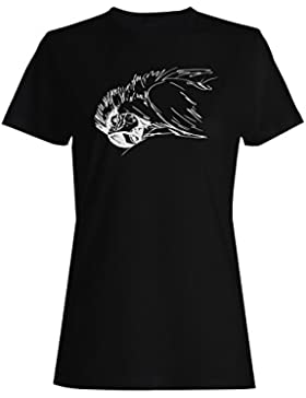 Arte Retro Del Pájaro Del Pájaro camiseta de las mujeres o202f