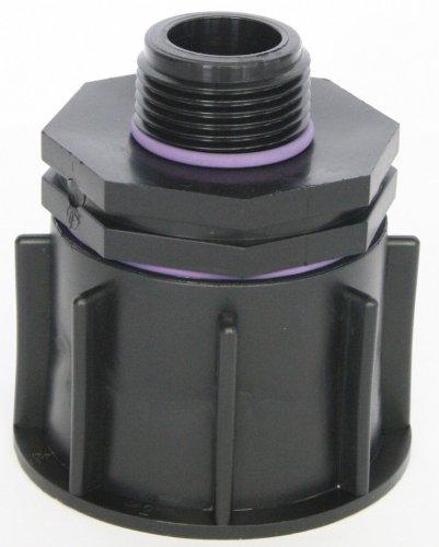 'Bec de ame80 Adaptateur S60 x 6 grossier filetage adaptateur avec raccord de réduction AG 1, IBC Réservoir Eau de Pluie de Accessoires de conteneurs Mamelon de Bidon, tonne, zysterne