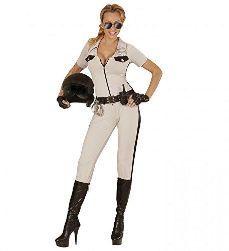 shoperama Damen-Kostüm California Highway Patrol inklusive Brille, Schlagstock und Handschellen Polizistin Overall, - Patrol Officer Kostüm