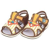 Mee Mee Unisex Baby First Walking Shoes-1.5 Years (21 EU) (MM-1100-13_Brown_6 Kids)