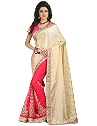 Sharnam Sarees Georgette Saree (Ranjhana_Chiku_Lightpink_Multi-Coloured)