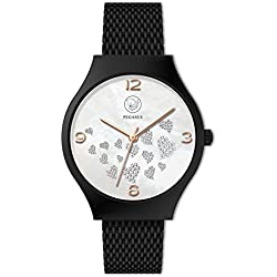 Premium Energy Power Hearts Watch Magnetic Bracelet Watch Esprit Daylight Nickel-Free and Allergen Free Energetix 4you 2522 with Gift Pouch