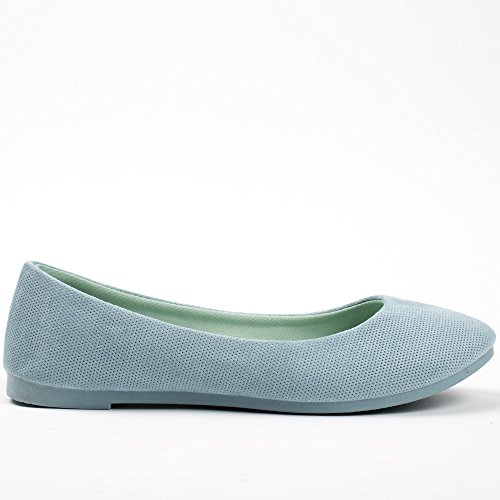 Ideal Shoes ,  Ballerine donna Azzurro