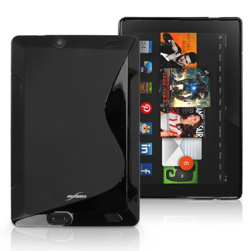 Kindle Fire HD 7.0 (2013) Fall, BoxWave® [DuoSuit] Ultra langlebig TPU Fall w/, Ecken für Amazon Kindle Fire HD 7.0 (2013) - Jet Schwarz