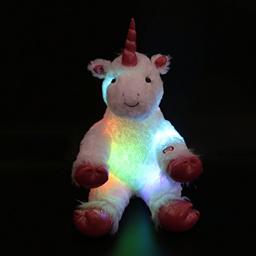 Wewill-Marque-LED-Luminous-gant-Stuffed-Unicorn-avec-Heavenly-White-Plush-16-Inch-40CM
