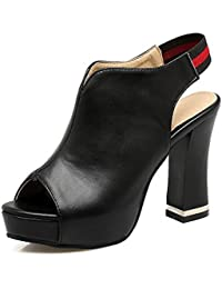 514f42bec6c79 Chaussures Sandales Femmes Bouche Poisson épais avec Retour Arrière  Plate-Forme Imperméable Grande ...