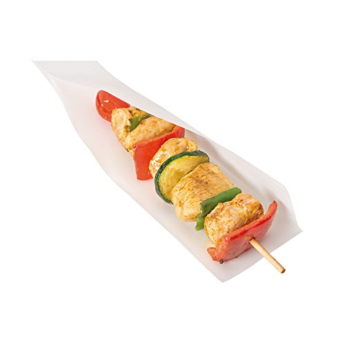 Garcia de Pou 100Einheit, geöffnet Pack Tasche für Häppchen, Hot Dogs in Box 35GSM, 15x 13/10cm, Papier, weiß, 15x 10x 30cm - Hot-dog-box