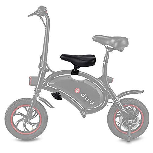 HAPQIN Juego de Pedales para niños con Asiento de sillín para F - Rueda de Bicicleta eléctrica DYU