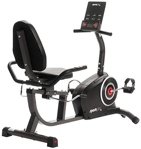 SportPlus SP-RB-9500-iE Bicicleta Estática, Asiento Reclinable, Ordenador, Diferentes Niveles y Sensores...