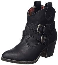 Rocket Dog Women's Satire Cowboy Boots, Black Lewis, 3 UK