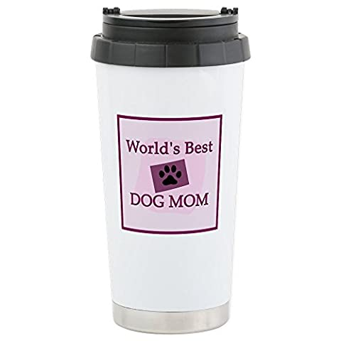 CafePress - World's Best Dog Mom - Stainless Steel Travel Mug, Insulated 16 oz. Coffee & Tea