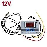Regolatore di temperatura 12V 24V 220VAC, termostato digitale a LED con sonda, regolatore di raffreddamento riscaldamento Proster acquario Scaldabagno Terrario Rettile Incubatore Lampada riscaldatore