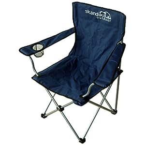Skandika Buddy - Siège chaise de camping pliable - acier - Jusqu' à 110 kg - Bleu