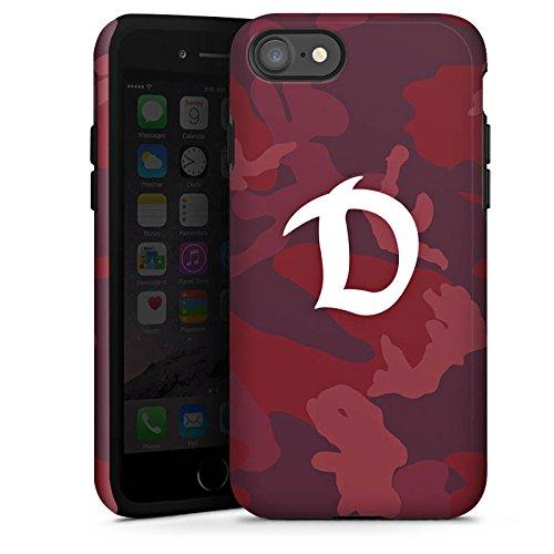 Apple iPhone 6 Silikon Hülle Case Schutzhülle Dynamo Dresden Camouflage Fanartikel Tough Case glänzend