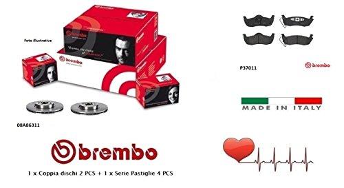 08A86311-P37011 Dischi + Pastiglie Freno Posteriori Brembo
