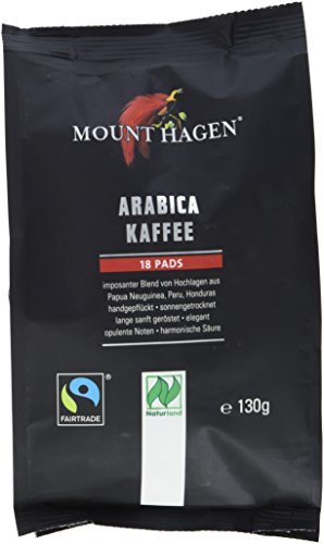 Mount Hagen Kaffee-Pads FairTrade, 5er Pack (5 x 130 g)
