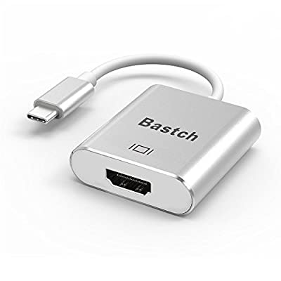 USB C TO HDMI Adapter,Bastch USB 3.1 Type C (USB-C) to hdmi Adapter With Aluminium Case for 2017 MacBook Pro/Samsung Galaxy S8ung Galaxy S8 from Bastch