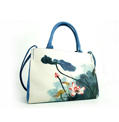 HYLM Borse di moda Borsa nuova borsa della borsa della tela di canapa della signora Folk-Custom , e11 ea10