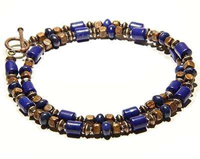 Collier en lapis lazuli pour hommes et femmes CHNA06-19