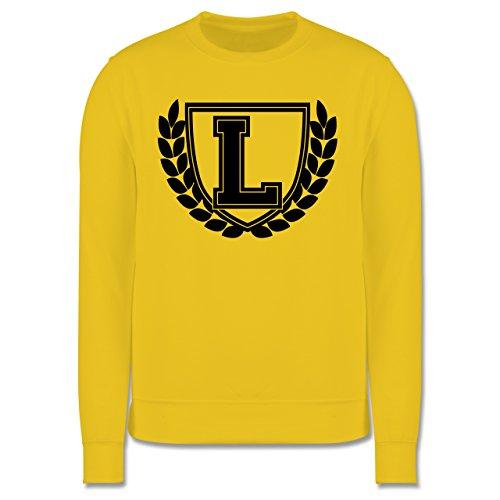Anfangsbuchstaben - L Collegestyle - Herren Premium Pullover Gelb