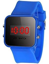 ZARLLE Reloj Coloreado Digital, Pantalla Led Digital Unisex De Silicona Correa Cuarzo Reloj De MuñEca Deporte NiñOs Chica Chico
