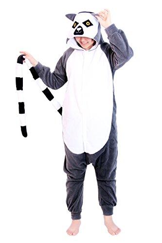 Kostüm Dragon Halloween Tails (Re-Miss Ring tail lemur Cosplay Pyjamas Schlafende Kleidung Kigurumi fuer Fancy Dress & Periode Kostüme Halloween Weihnachten)