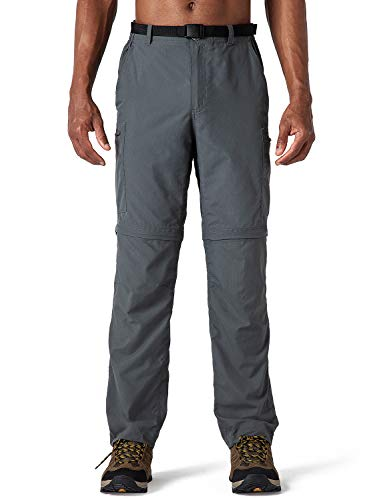 NAVISKIN Herren Zip-Off-Trekkinghose 2-in-1 Wanderhose atmungsaktiv Outdoorhose RV-Taschen