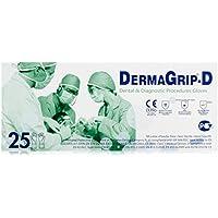 DermaGrip Gel Guantes polvo gratis 8.5 25 piezas, Paquete 1er (1 x 25 piezas)
