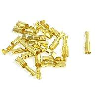 18 piezas de 3 mm Diámetro de alambre de latón Mujer Crimp Terminal Conectores 4mm